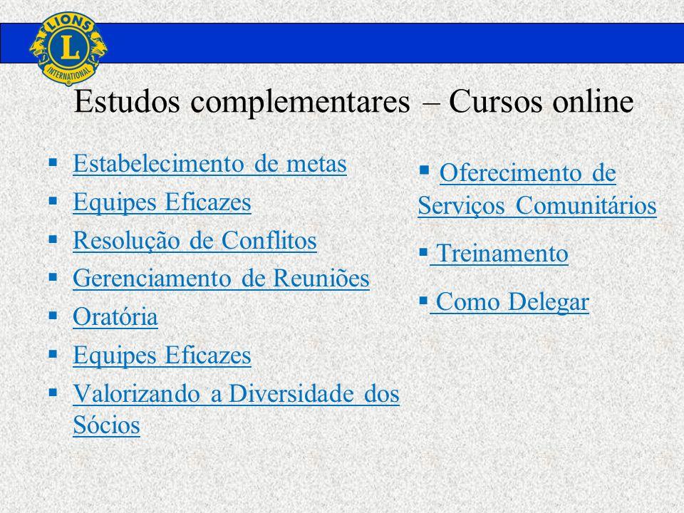Estudos complementares – Cursos online