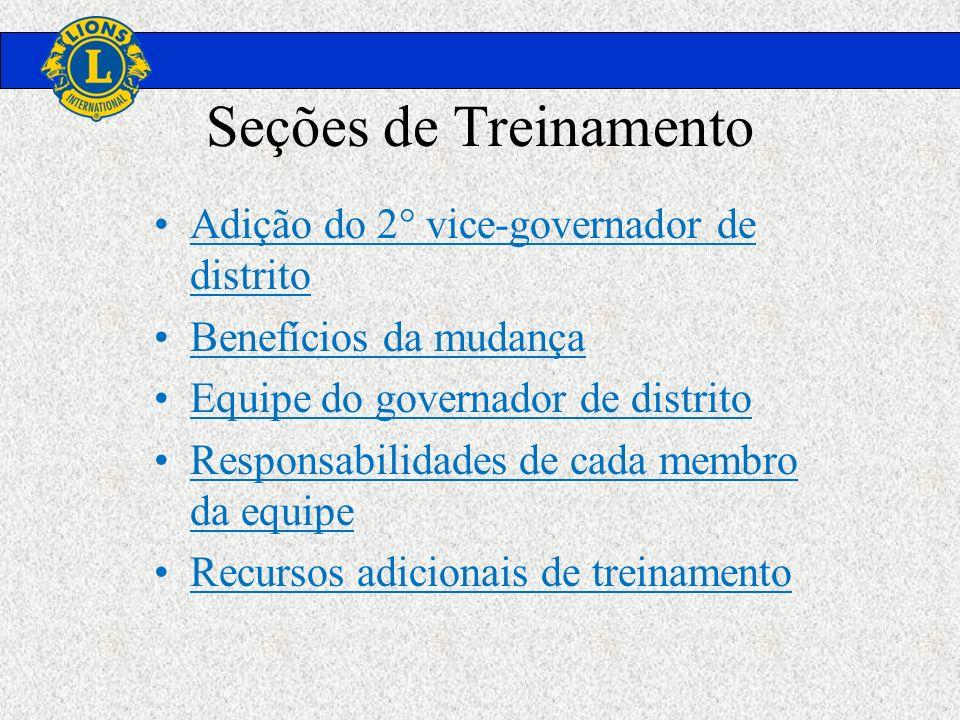 Seções de Treinamento Adição do 2° vice-governador de distrito
