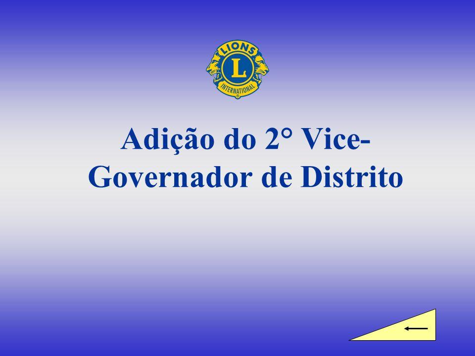 Adição do 2° Vice-Governador de Distrito