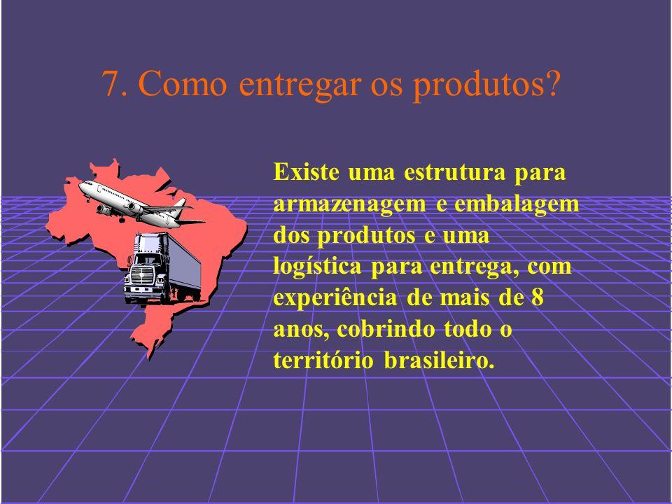 7. Como entregar os produtos