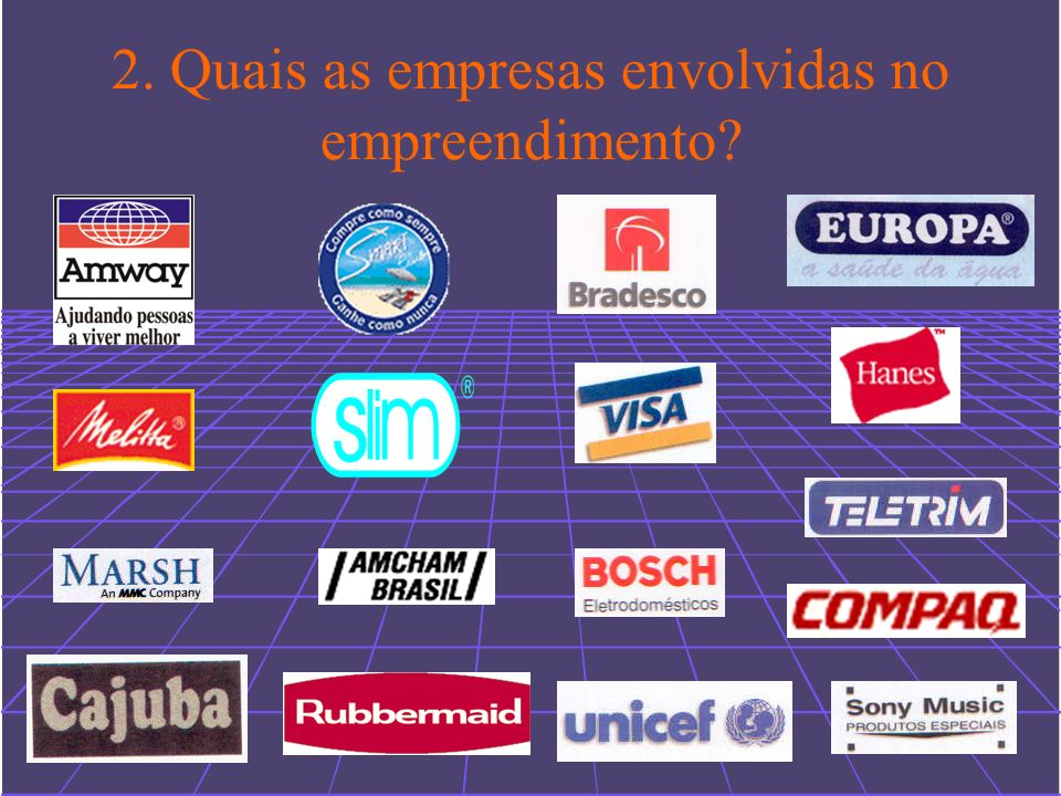2. Quais as empresas envolvidas no empreendimento