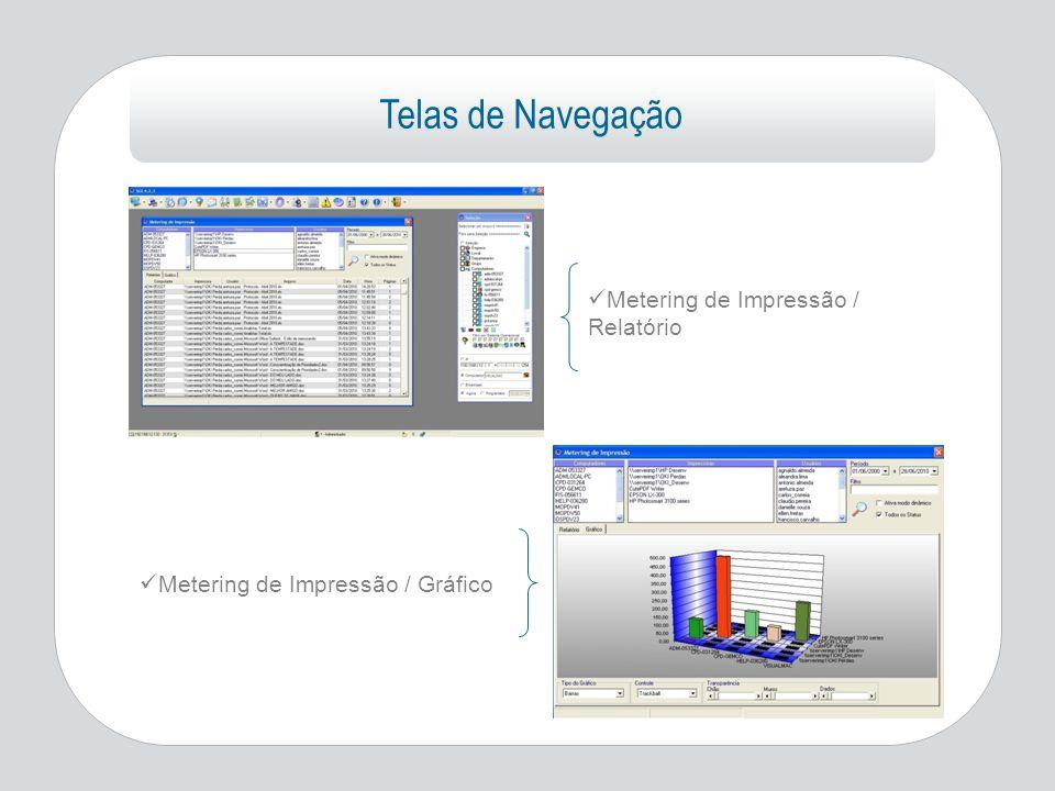 Telas de Navegação Metering de Impressão / Relatório