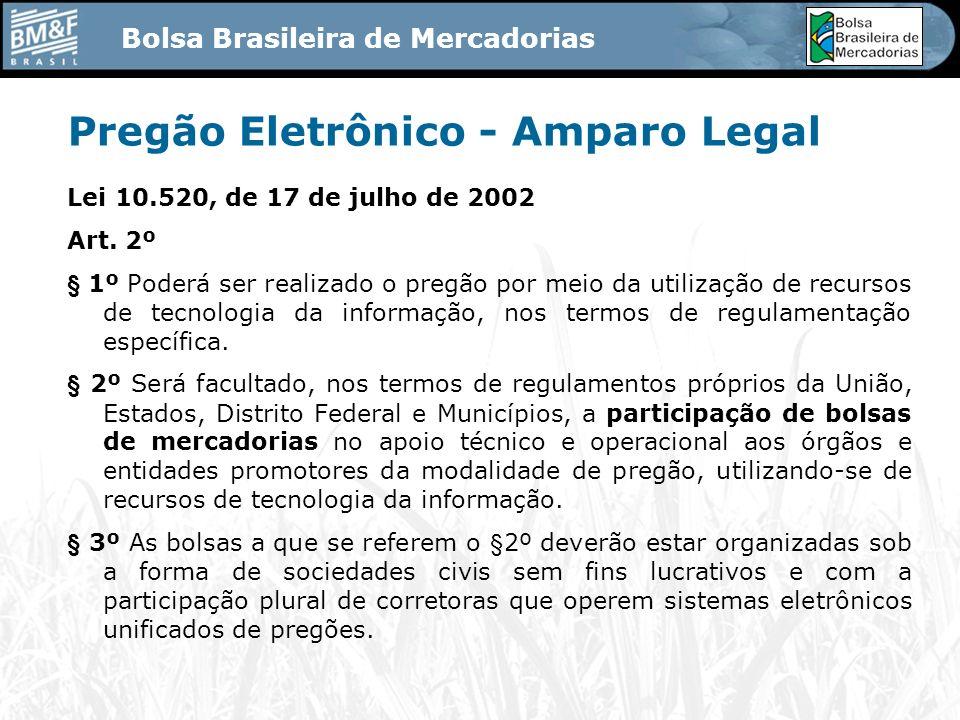 Pregão Eletrônico - Amparo Legal