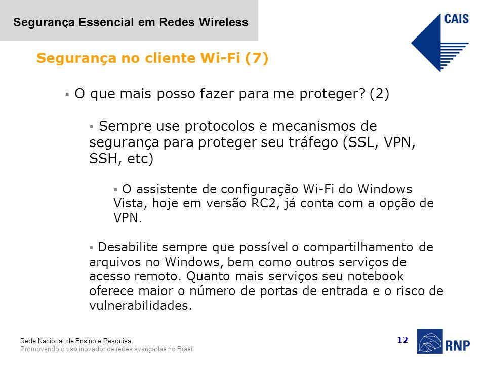 Segurança no cliente Wi-Fi (7)