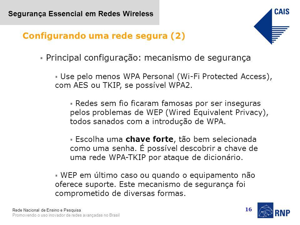 Configurando uma rede segura (2)