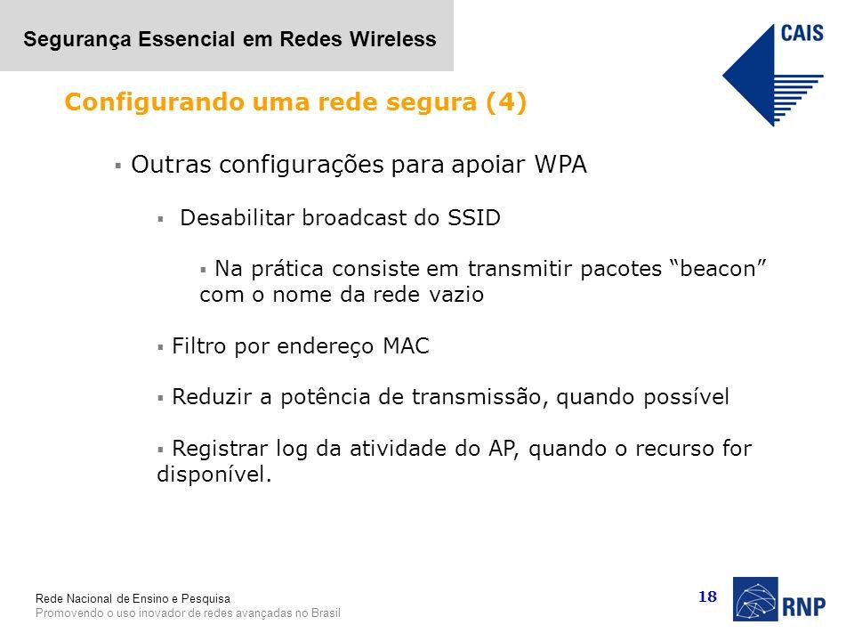 Configurando uma rede segura (4)