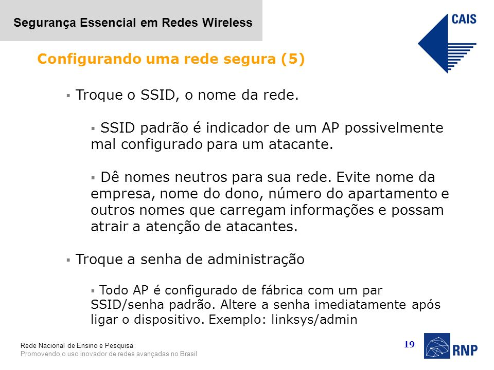 Configurando uma rede segura (5)