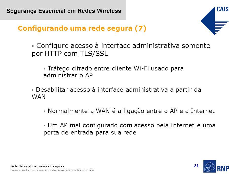 Configurando uma rede segura (7)