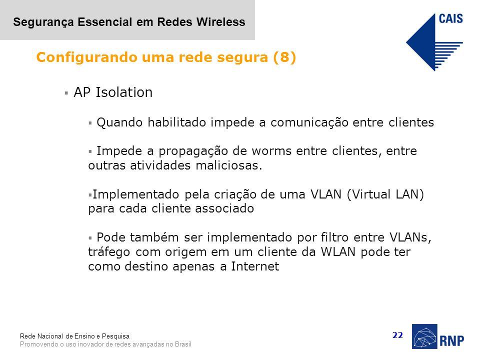 Configurando uma rede segura (8)