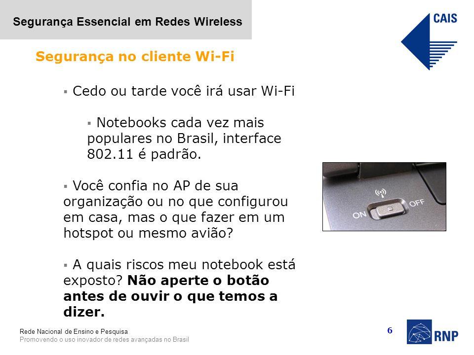 Segurança no cliente Wi-Fi