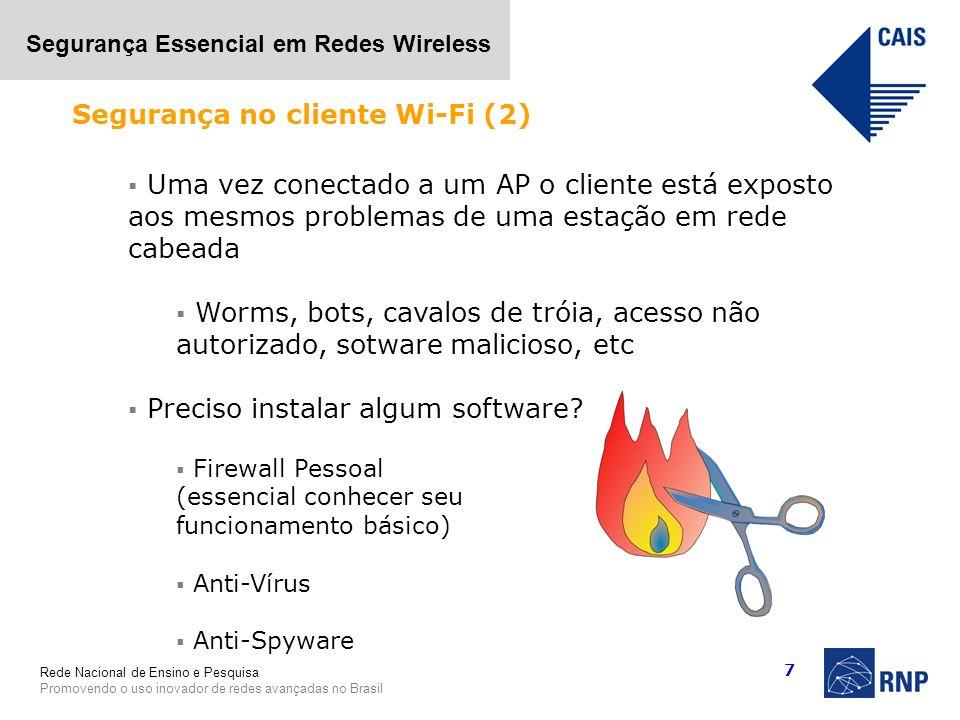 Segurança no cliente Wi-Fi (2)