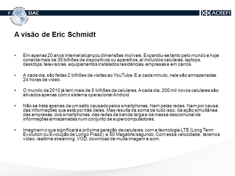 A visão de Eric Schmidt
