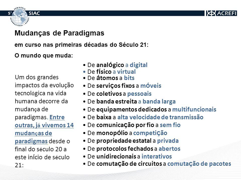 Mudanças de Paradigmas em curso nas primeiras década do Século 21: