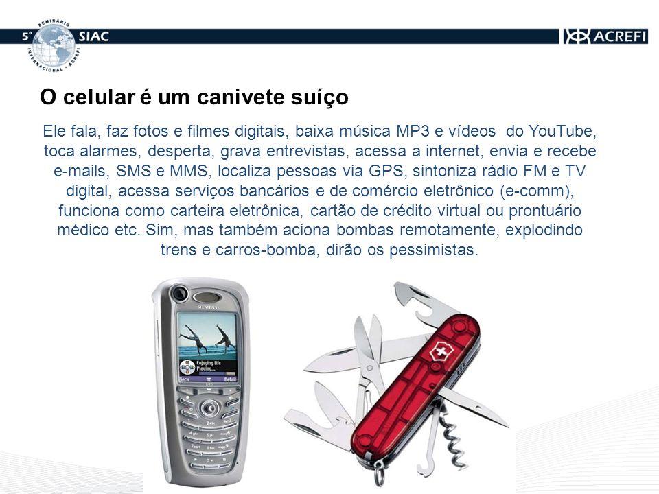 O celular é um canivete suíço