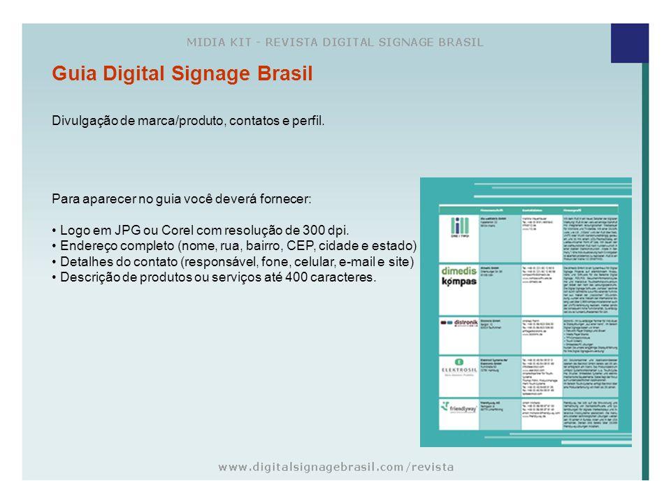 Guia Digital Signage Brasil