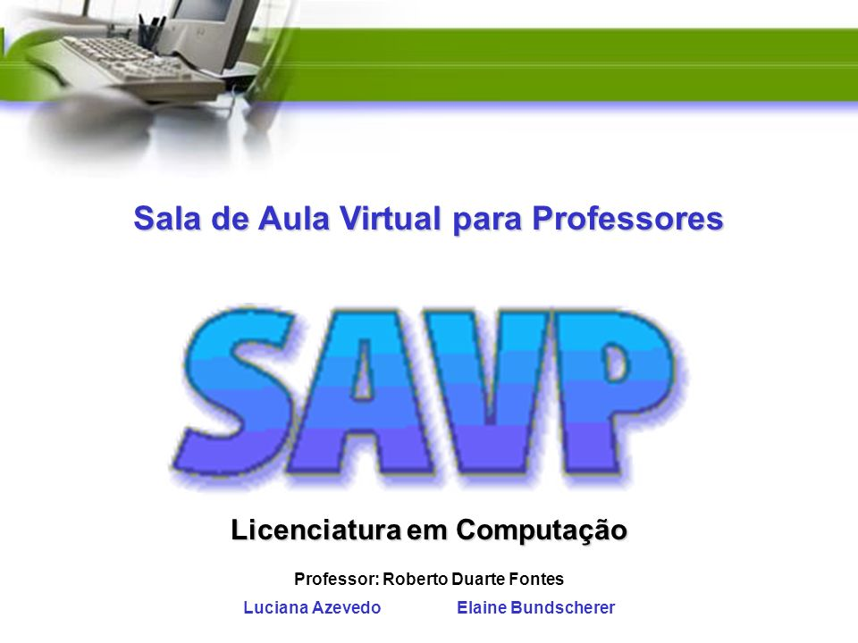 Sala de Aula Virtual para Professores