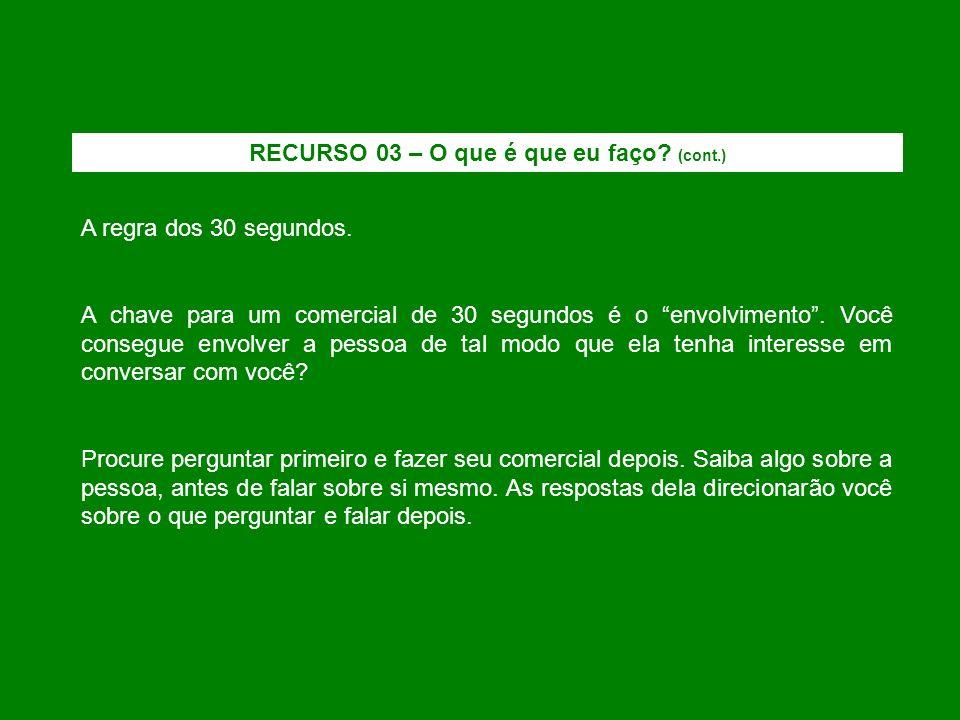 RECURSO 03 – O que é que eu faço (cont.)