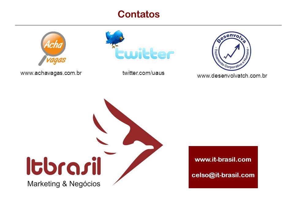 Contatos www.it-brasil.com celso@it-brasil.com www.achavagas.com.br