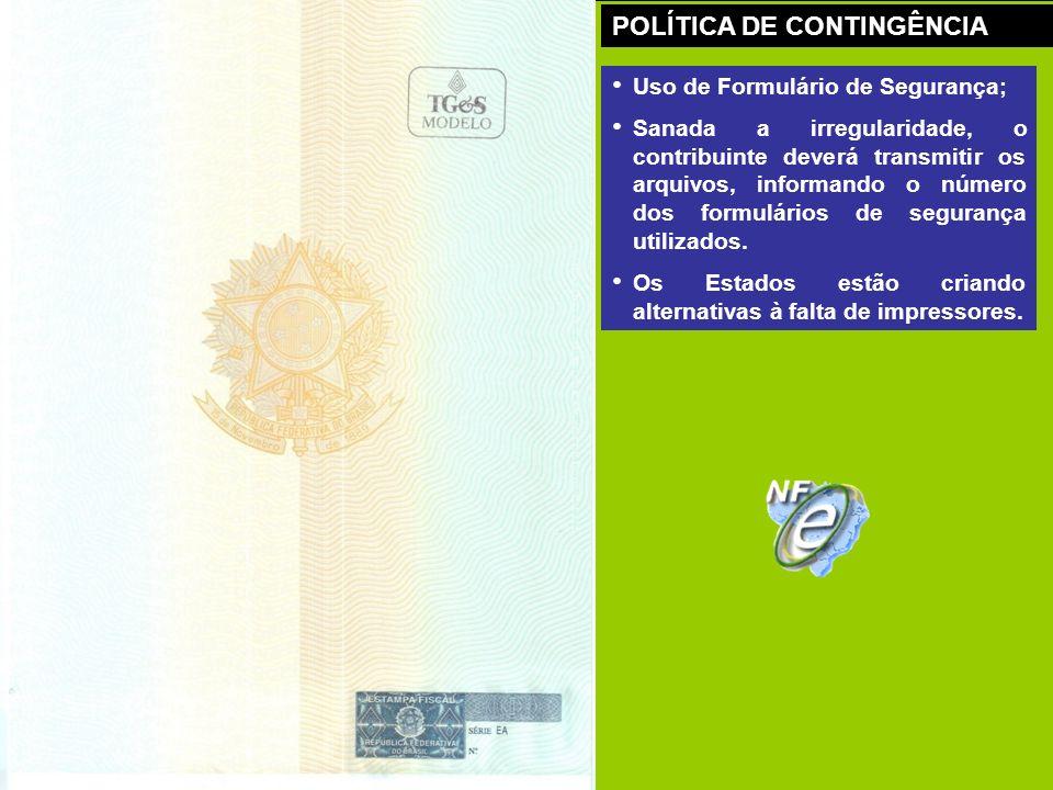 POLÍTICA DE CONTINGÊNCIA