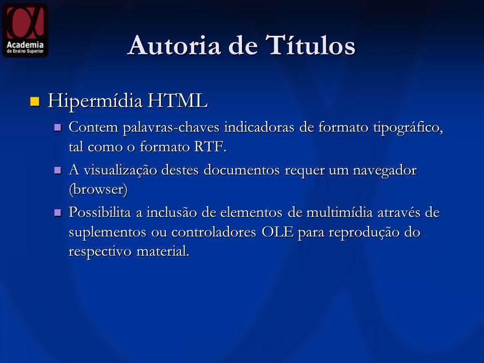 Autoria de Títulos Hipermídia HTML