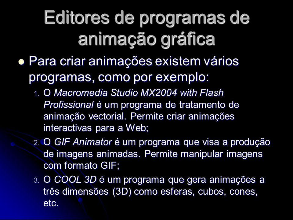 Editores de programas de animação gráfica