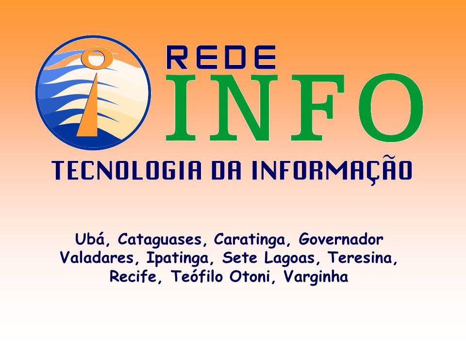 Ubá, Cataguases, Caratinga, Governador Valadares, Ipatinga, Sete Lagoas, Teresina, Recife, Teófilo Otoni, Varginha