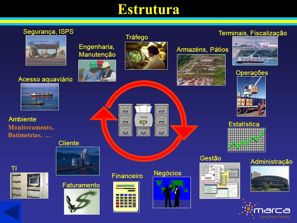 Estrutura Segurança, ISPS Terminais, Fiscalização Tráfego
