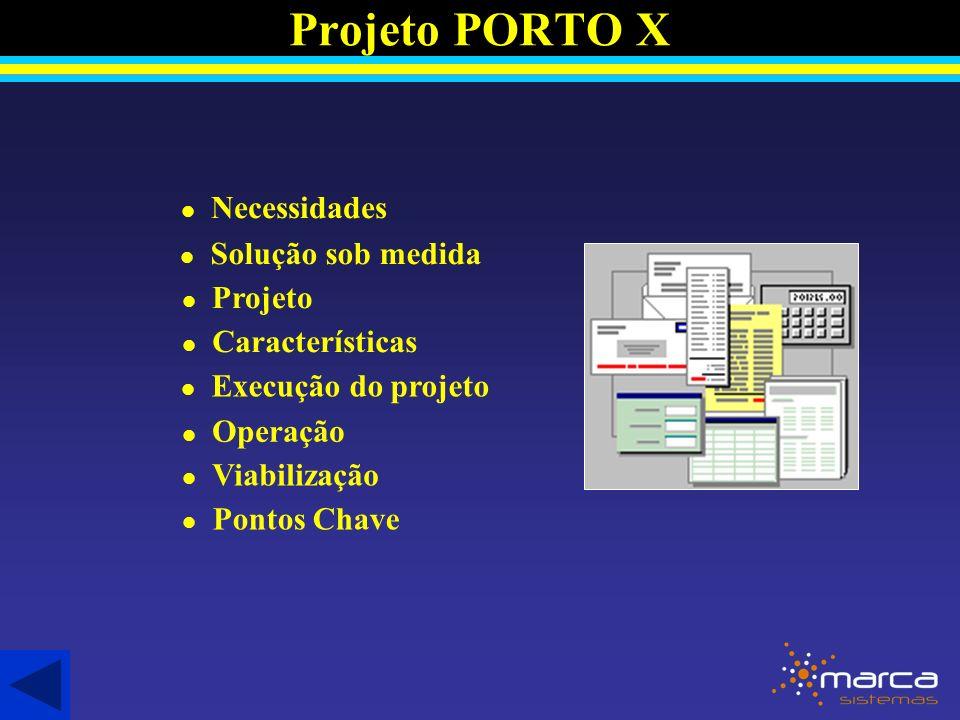 Projeto PORTO X Necessidades Solução sob medida Projeto