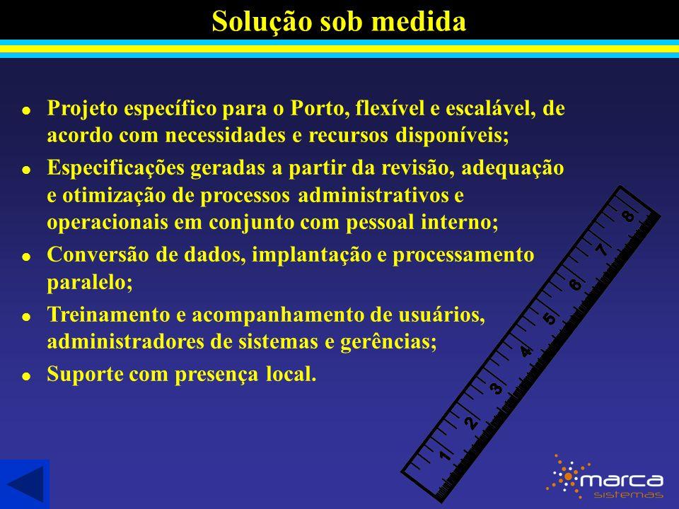 Solução sob medida Projeto específico para o Porto, flexível e escalável, de acordo com necessidades e recursos disponíveis;