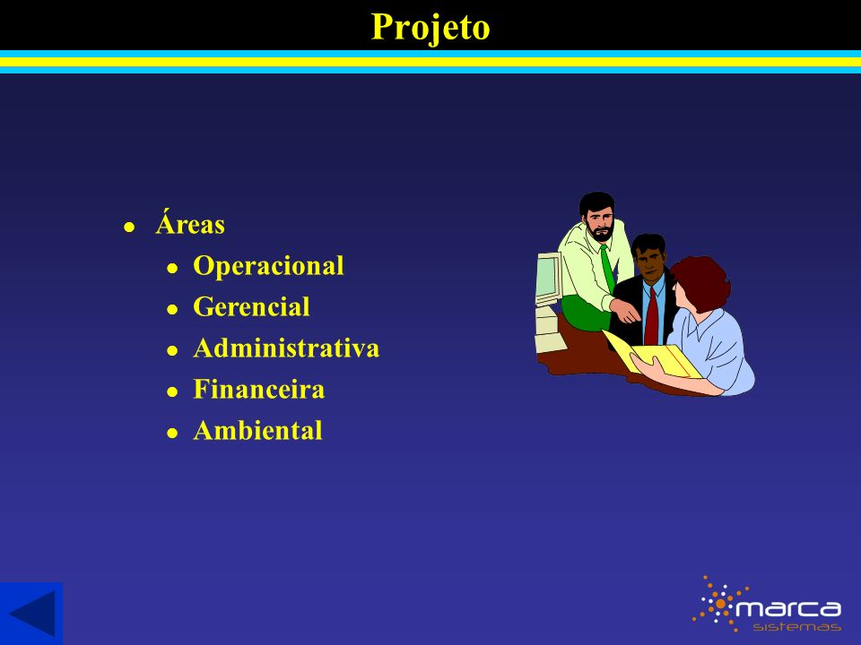 Projeto Áreas Operacional Gerencial Administrativa Financeira