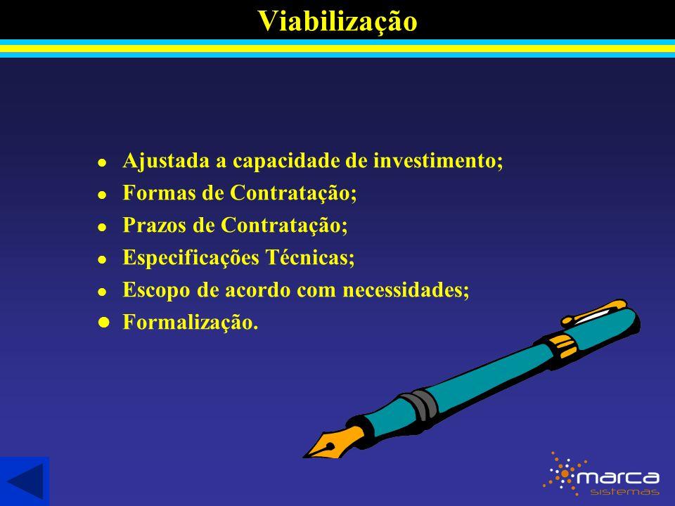Viabilização Ajustada a capacidade de investimento;