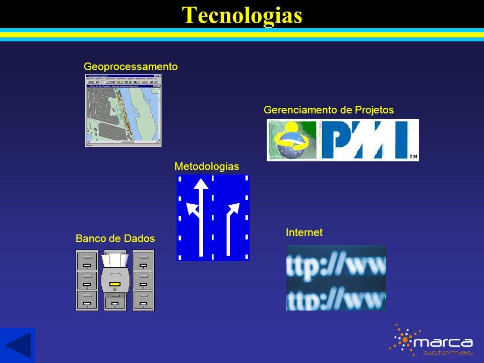Tecnologias Geoprocessamento Gerenciamento de Projetos Metodologias