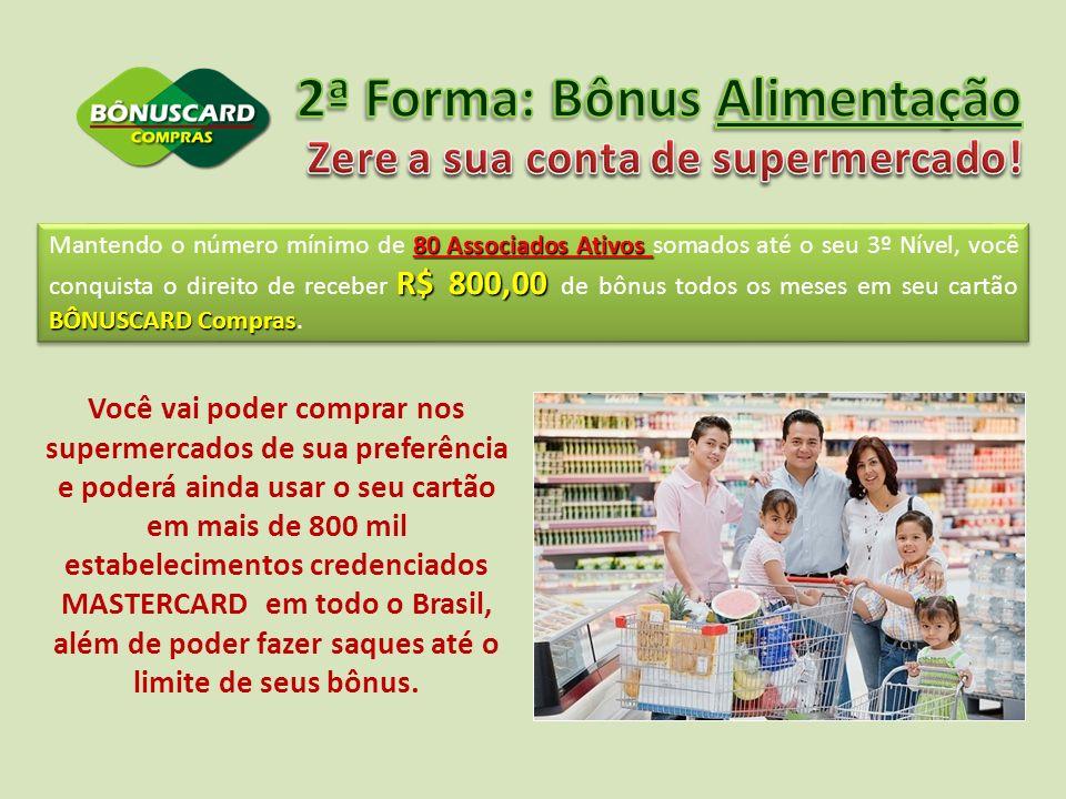2ª Forma: Bônus Alimentação Zere a sua conta de supermercado!
