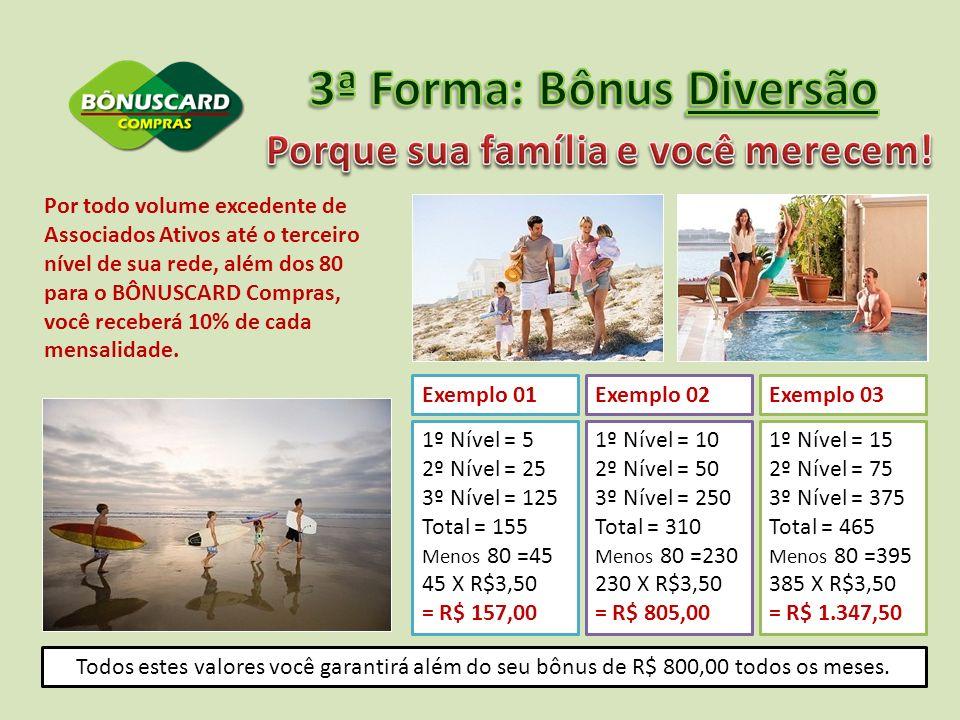 3ª Forma: Bônus Diversão Porque sua família e você merecem!