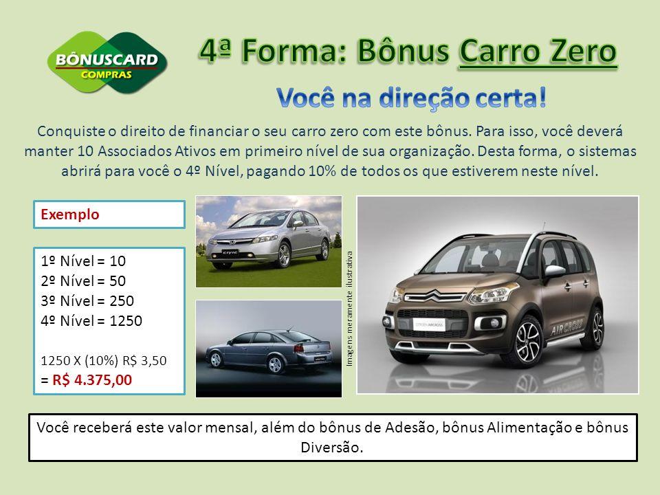 4ª Forma: Bônus Carro Zero