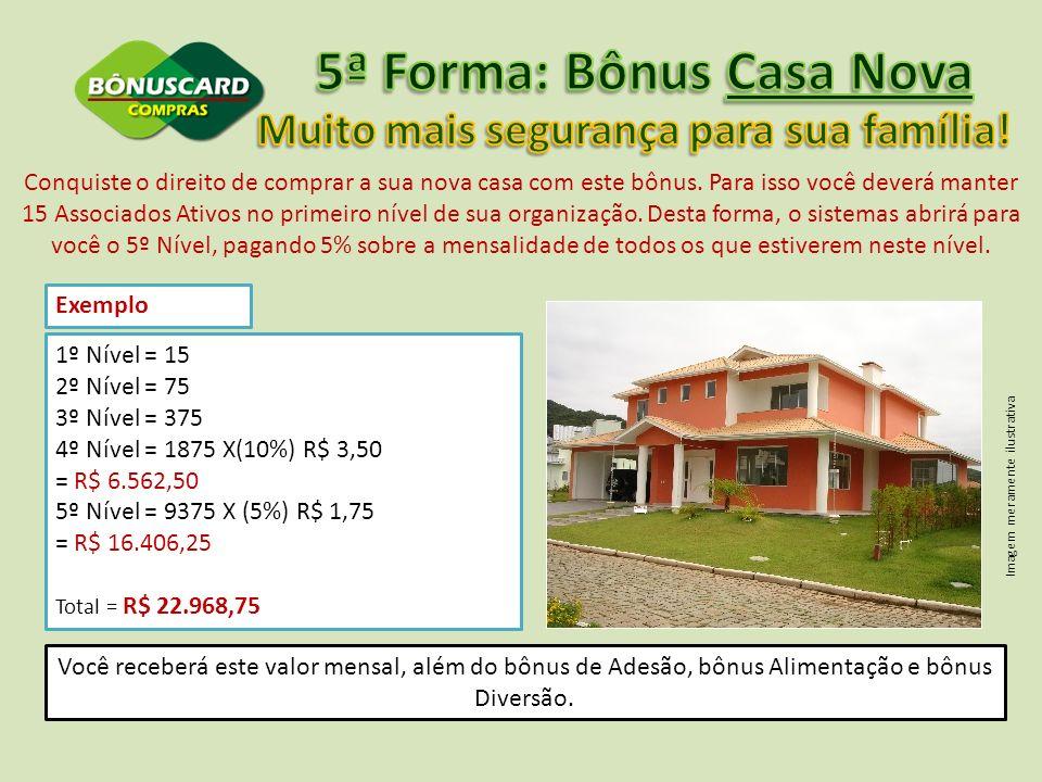 5ª Forma: Bônus Casa Nova Muito mais segurança para sua família!