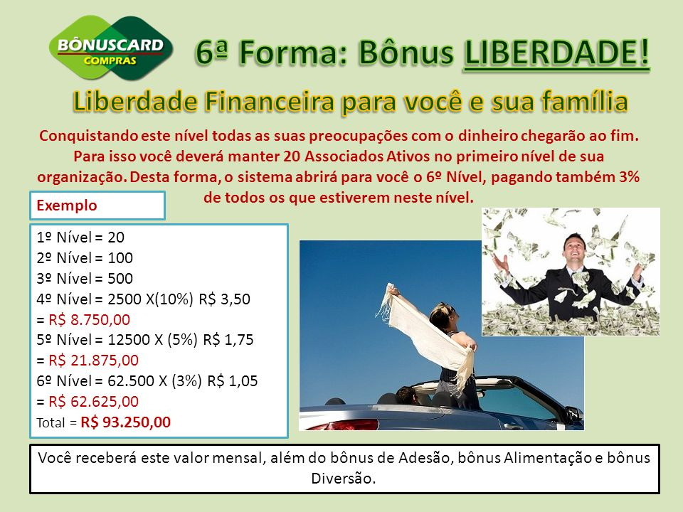 6ª Forma: Bônus LIBERDADE!