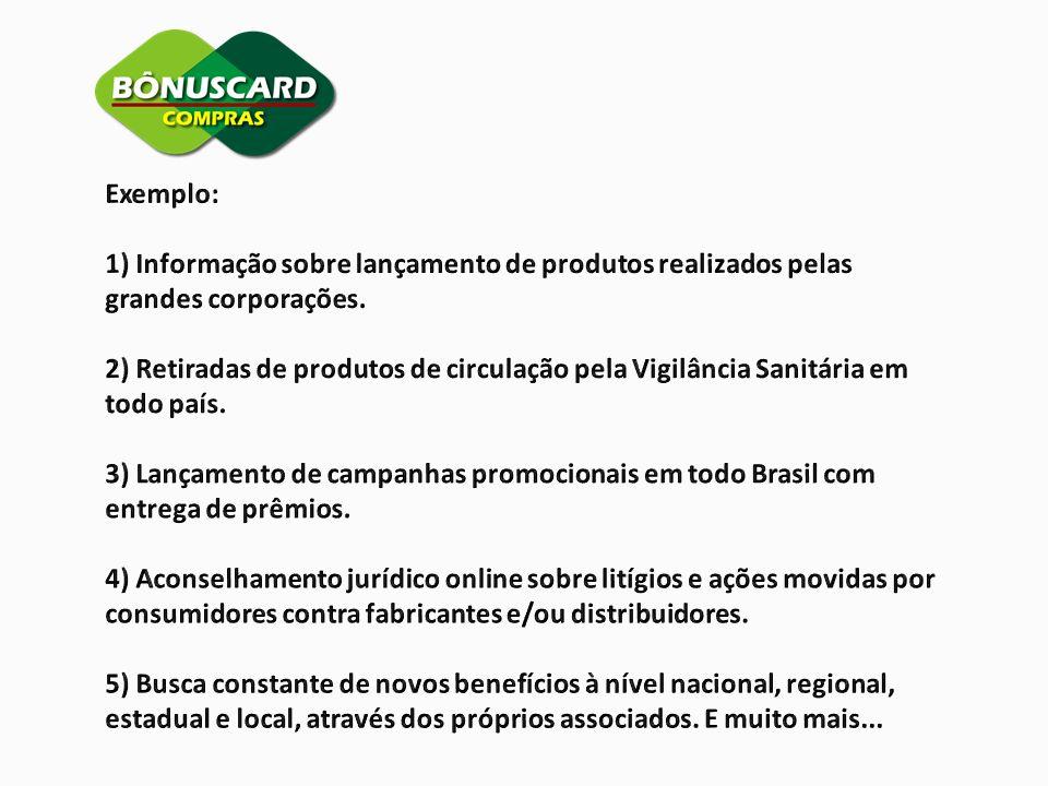 Exemplo: 1) Informação sobre lançamento de produtos realizados pelas. grandes corporações.