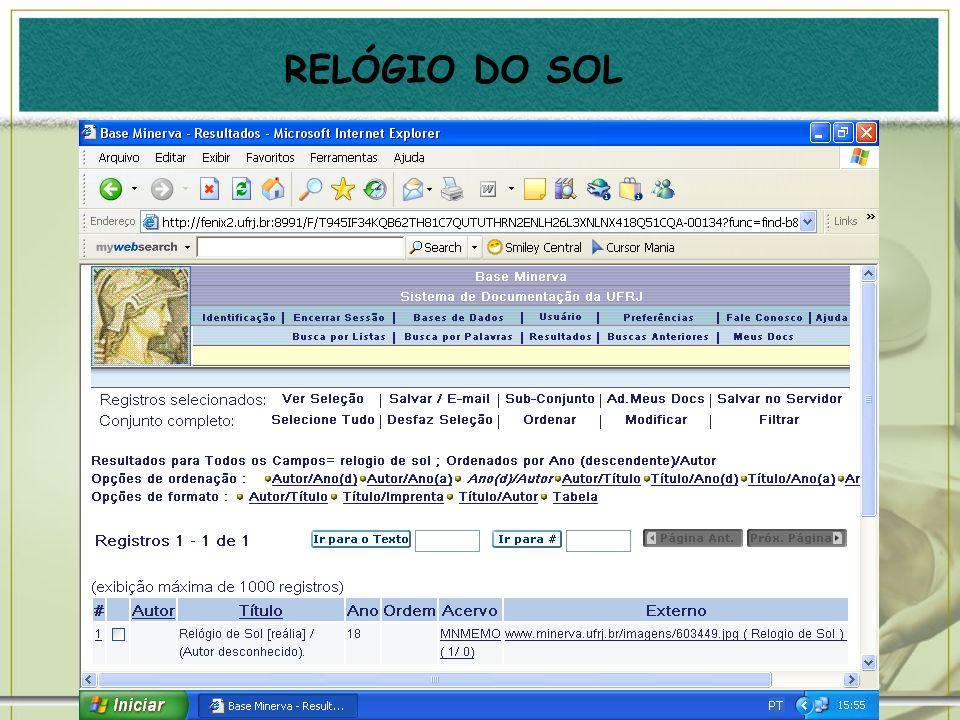 RELÓGIO DO SOL