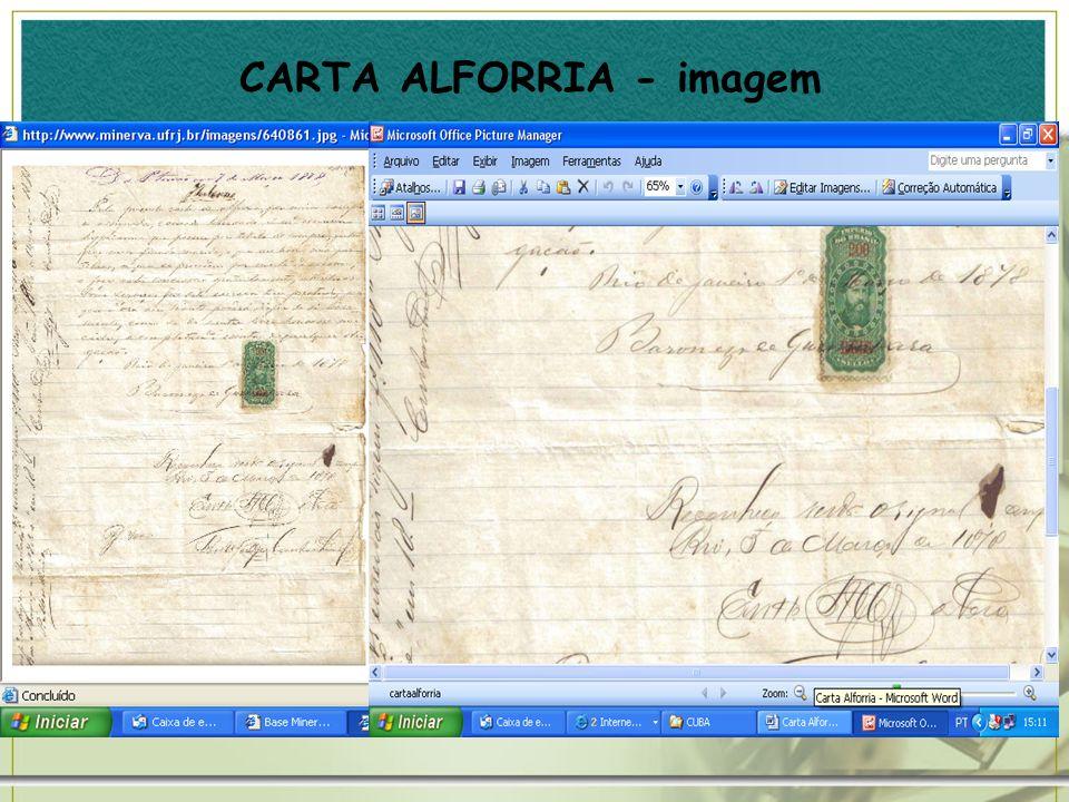 CARTA ALFORRIA - imagem