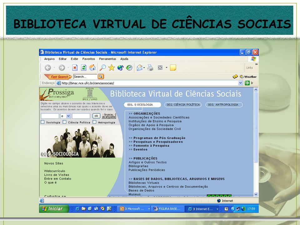 BIBLIOTECA VIRTUAL DE CIÊNCIAS SOCIAIS