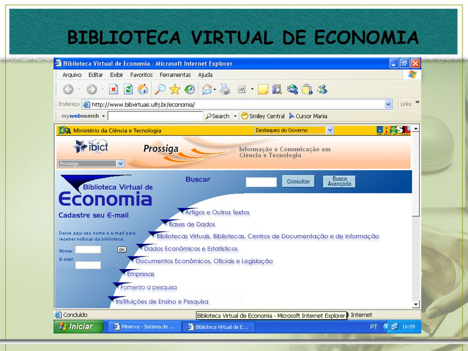 BIBLIOTECA VIRTUAL DE ECONOMIA