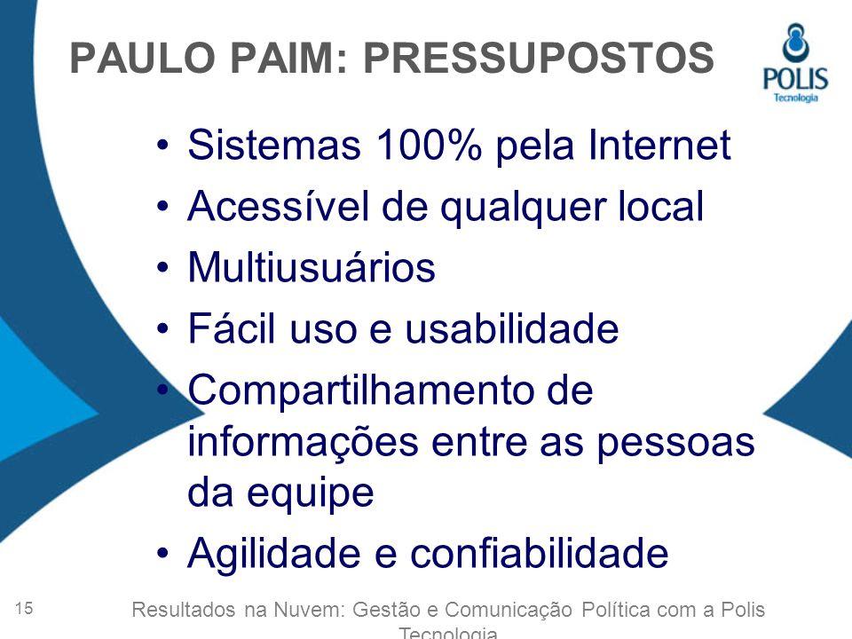 PAULO PAIM: PRESSUPOSTOS