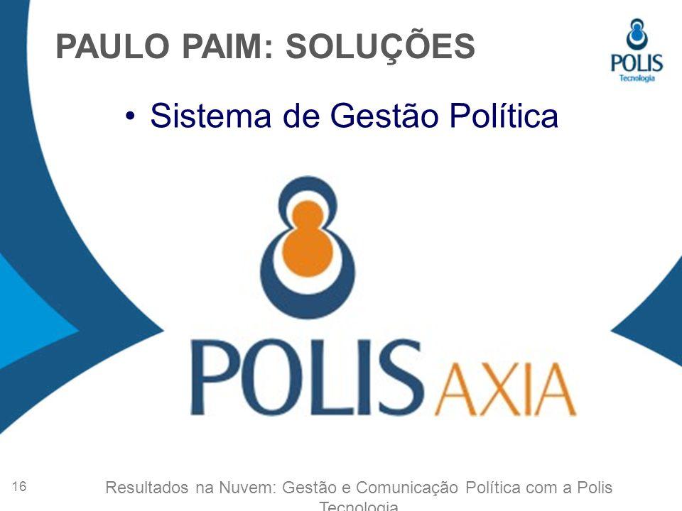 Sistema de Gestão Política