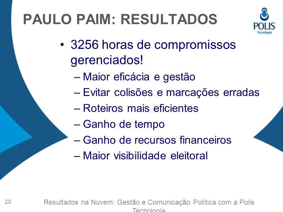 PAULO PAIM: RESULTADOS