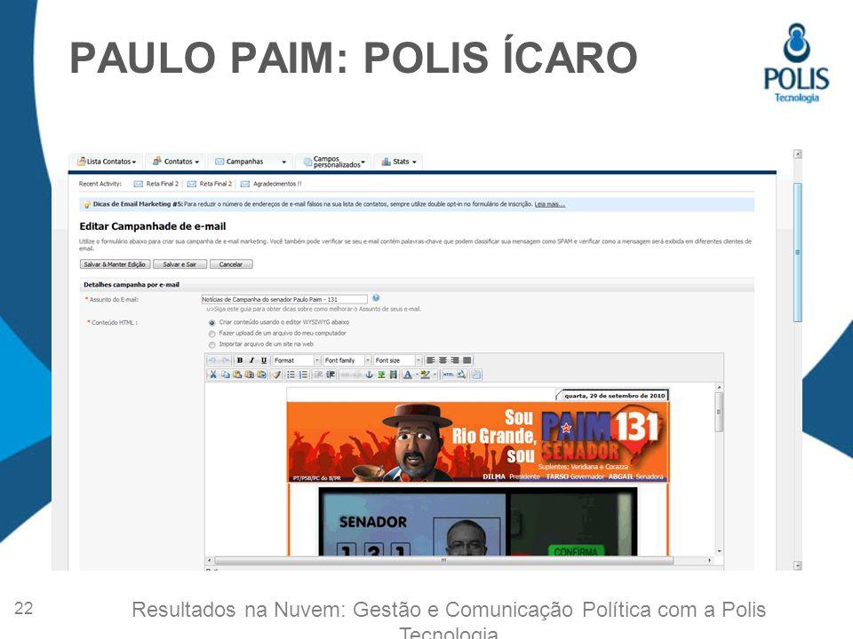 PAULO PAIM: POLIS ÍCARO