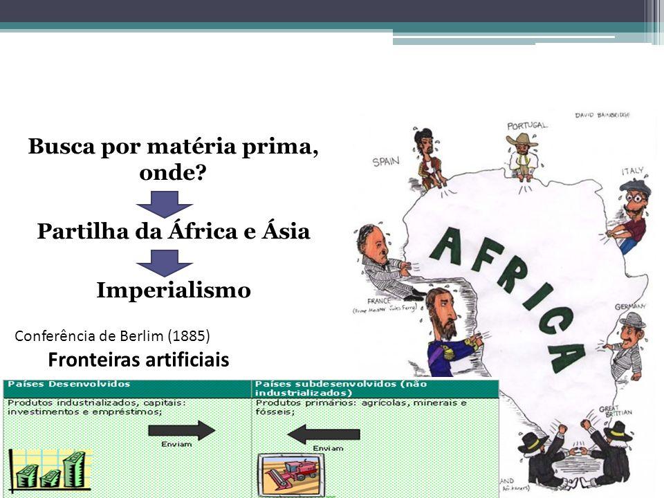 Busca por matéria prima, onde Partilha da África e Ásia