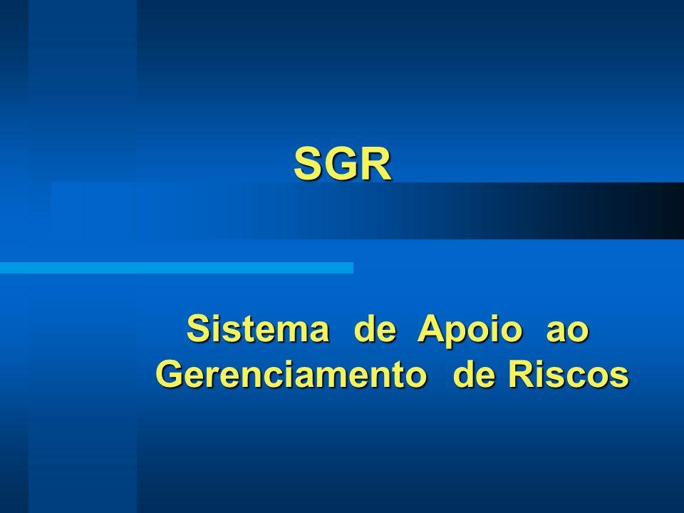 SGR Sistema de Apoio ao Gerenciamento de Riscos