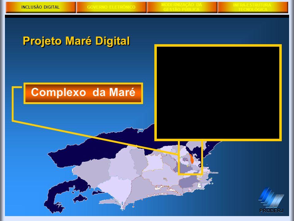 INCLUSÃO DIGITAL Projeto Maré Digital Complexo da Maré