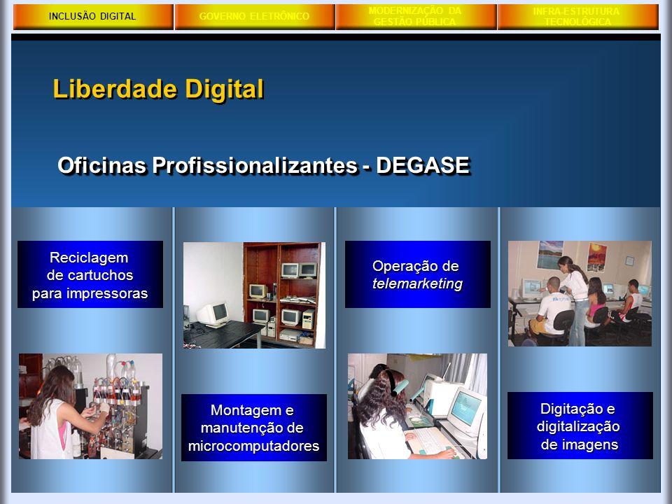 Liberdade Digital Oficinas Profissionalizantes - DEGASE Reciclagem